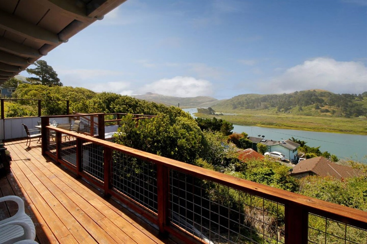 River Sea Cottage Deck to Russian River View