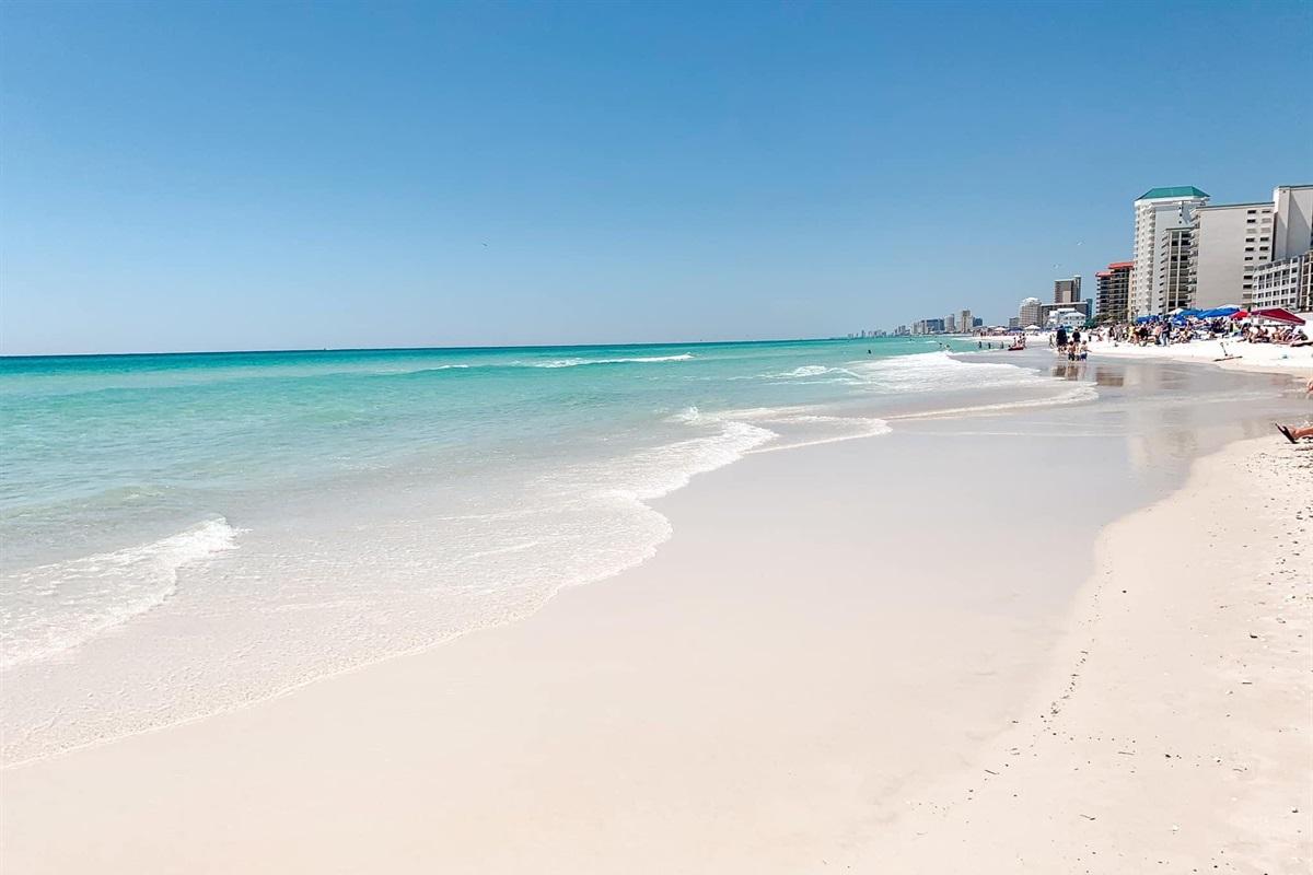 Panama City Beach, 3 blocks/6 minute walk.