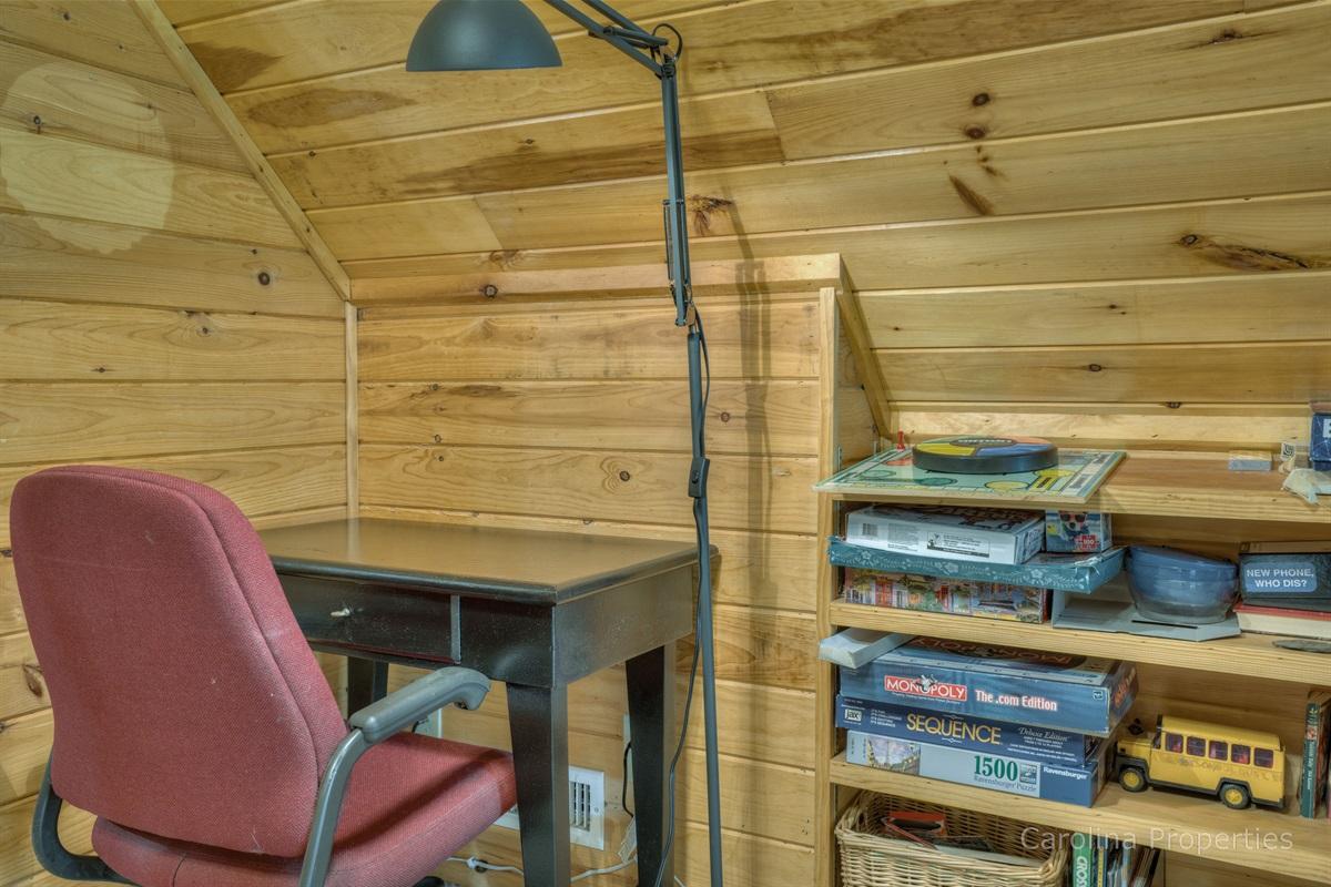 Desk area on the loft