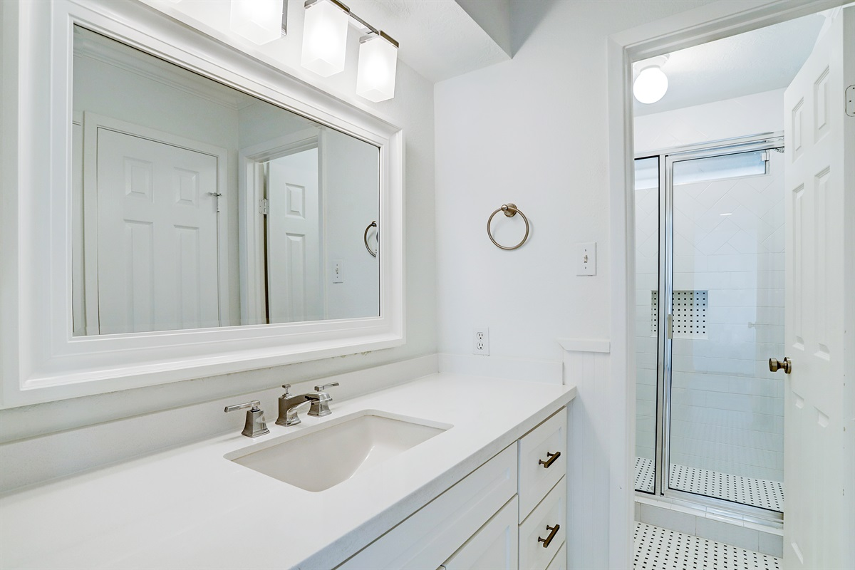 First floor bathroom with shower - adjacent to master bedroom