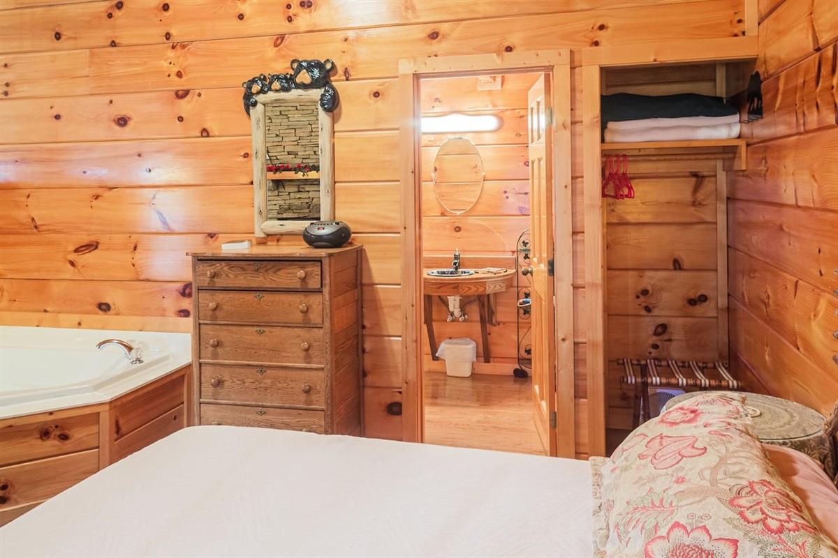 bedroom setup