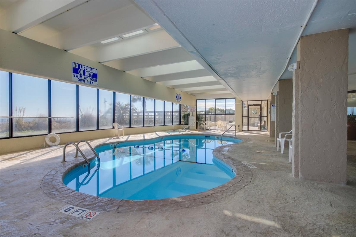 Heated indoor pool/hot tub