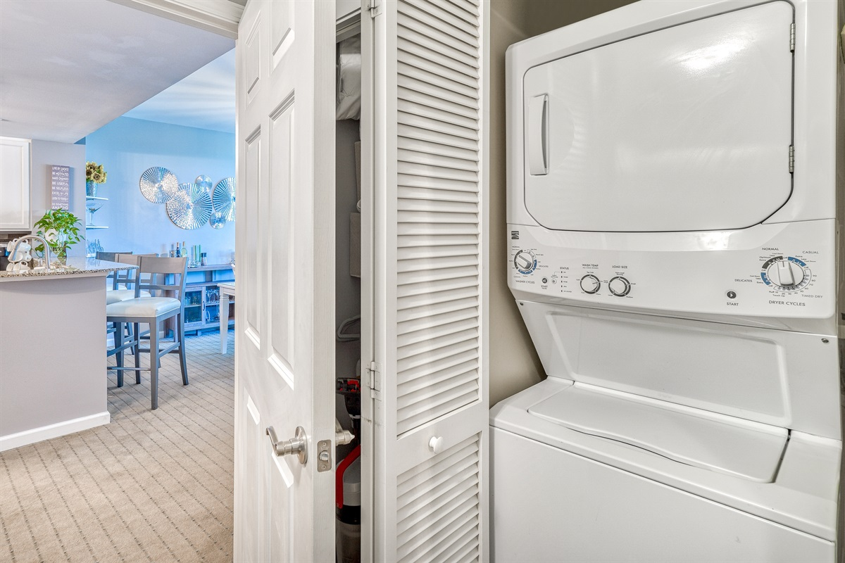 In-room washer/dryer