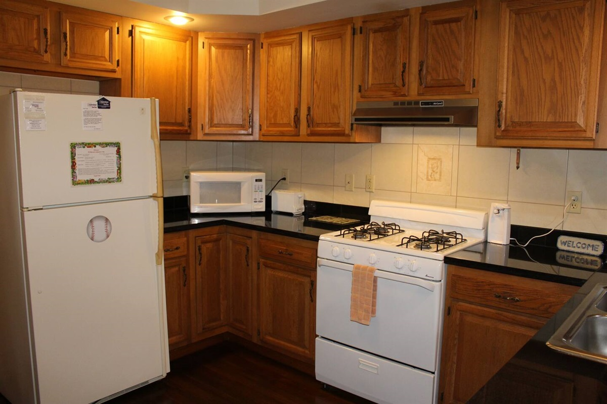 Spacious kitchen - refrigerator with automatic ice maker