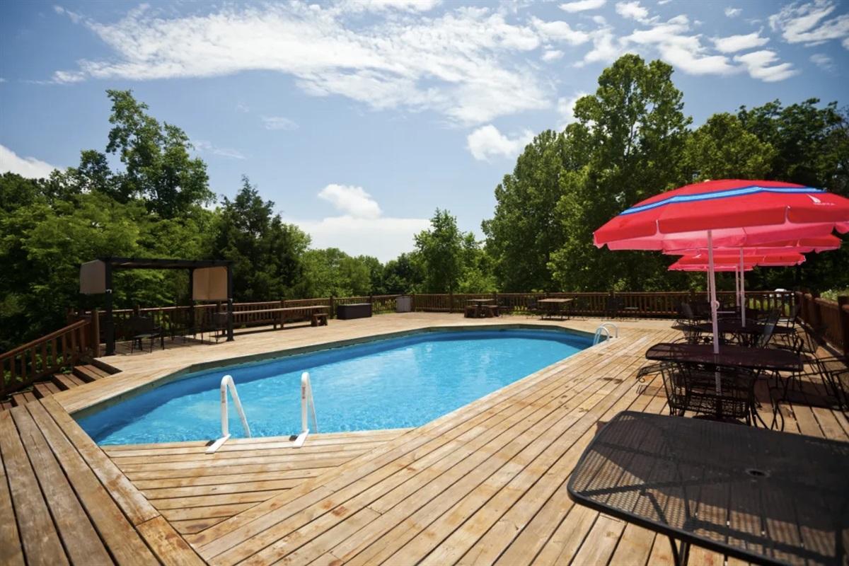 Huge pool with lots of deck space