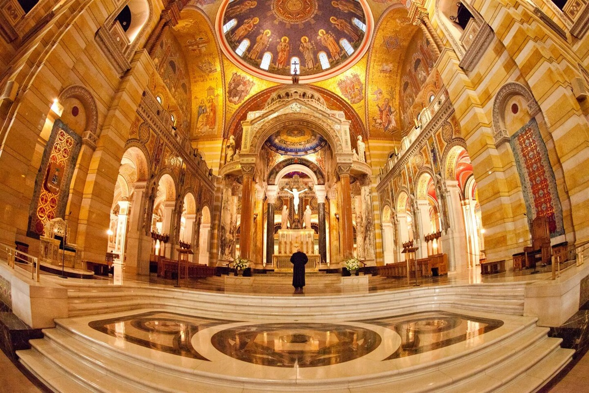 The entire inside of the Cathedral Basilica of  St. Louis is covered in mosaics.   It is an incredible work of art.  I highly recommend a visit.