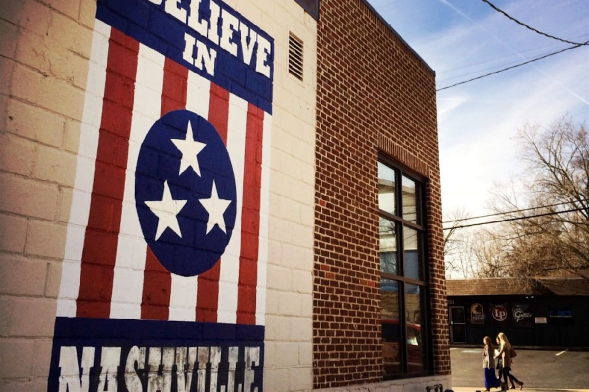 """""""I Believe In Nashville"""" Sign in 12 South"""