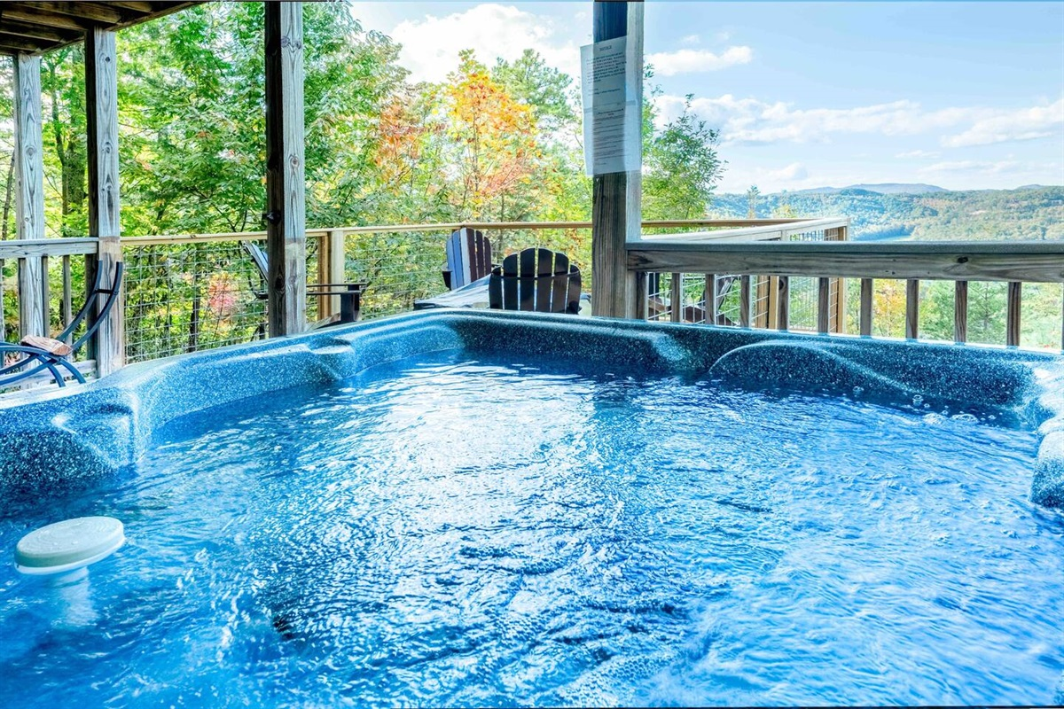 Fall colors from the hot tub!