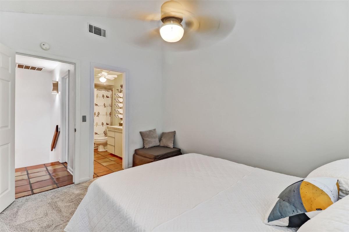 Master Bedroom with Door to Full Bath