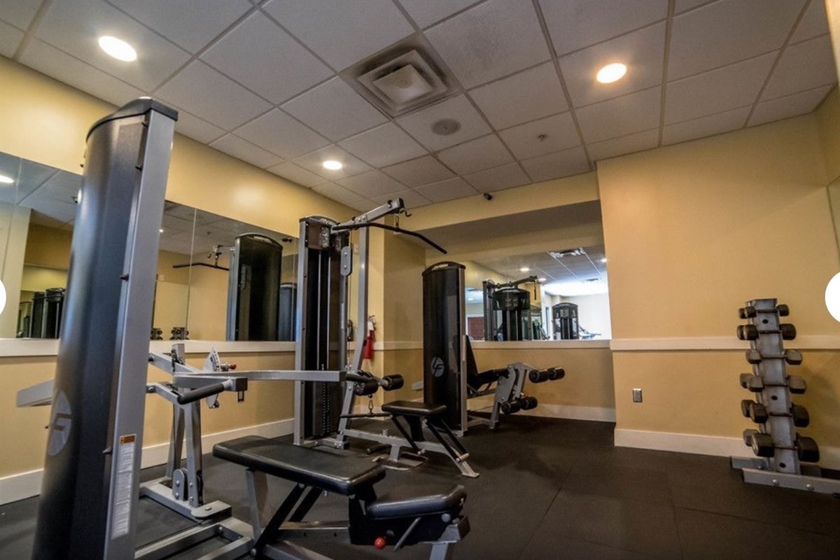 Workout room on the 4th floor