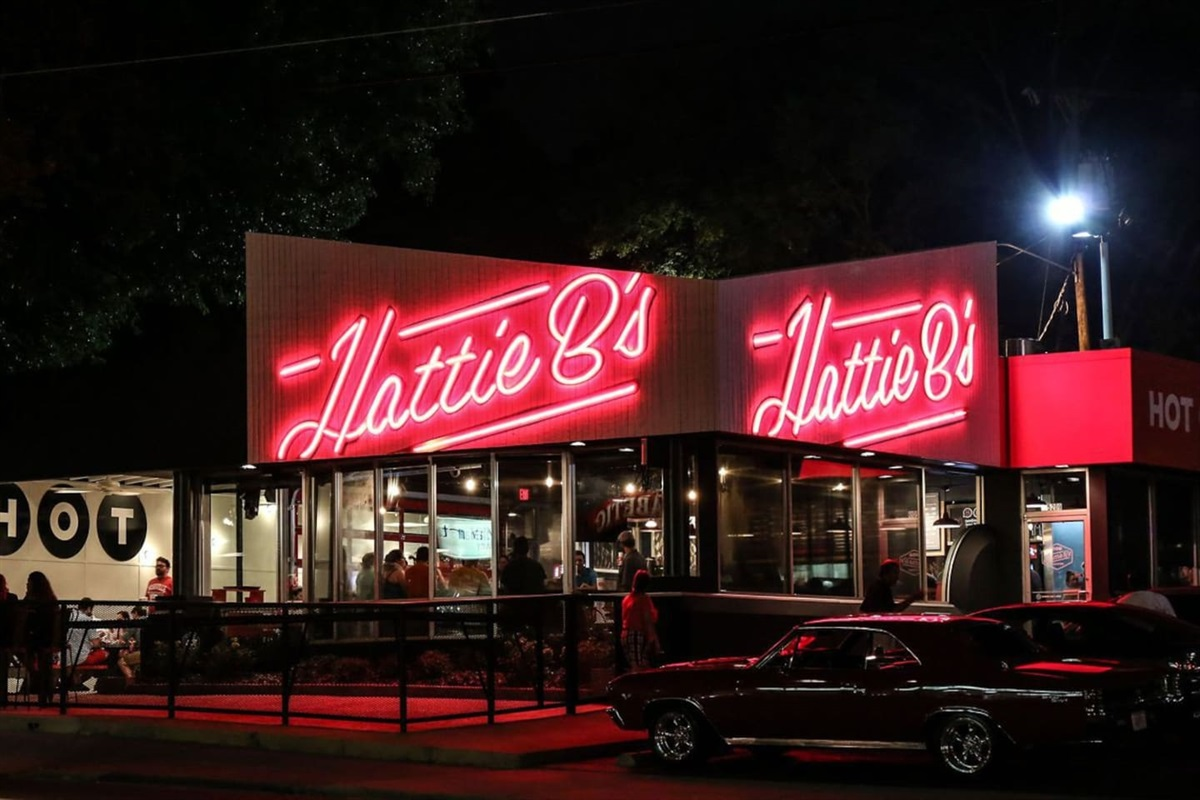 Walking distance to the best hot chicken Nashville has to offer - Hattie B's (on 19th Ave)