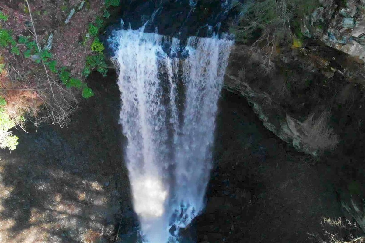 View of the waterfall at Deer Lick Falls