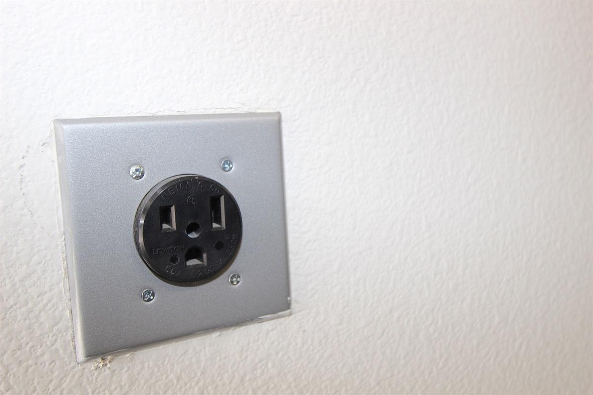 EV outlet in Garage