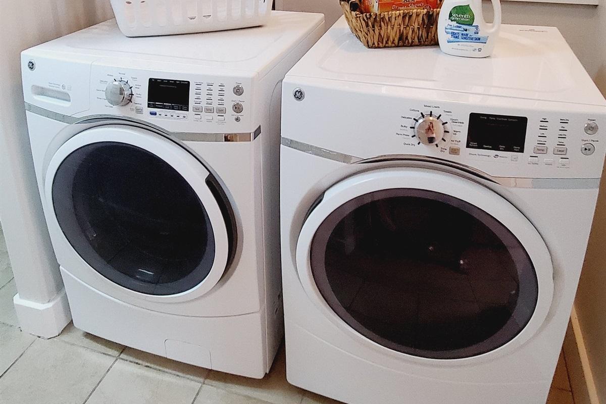 HE washer & Dryer on Main Floor