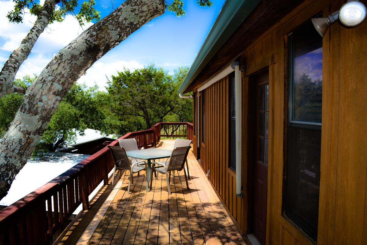 Upper cabin deck.