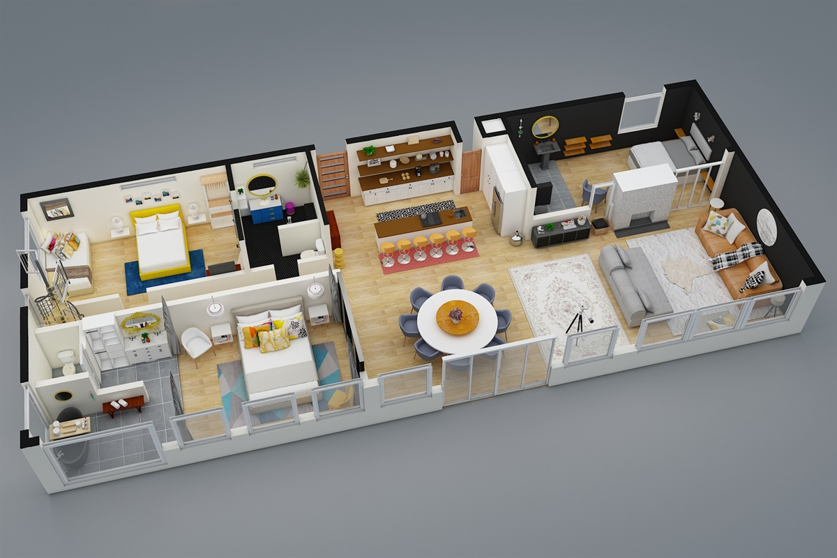 3D View of the 1st Floor