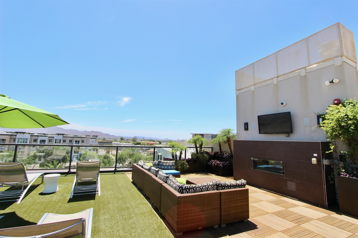 Our rooftop deck with 360 views.