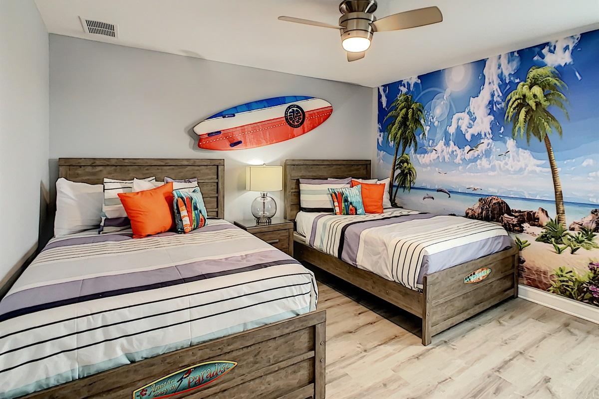 Bedroom #7-2nd Floor-2 Double Beds
