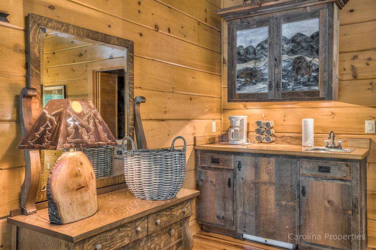 Bedroom 1 in the cabin