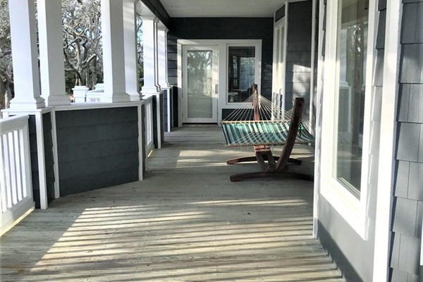 Side covered porch, private entrance from 1st Floor Master