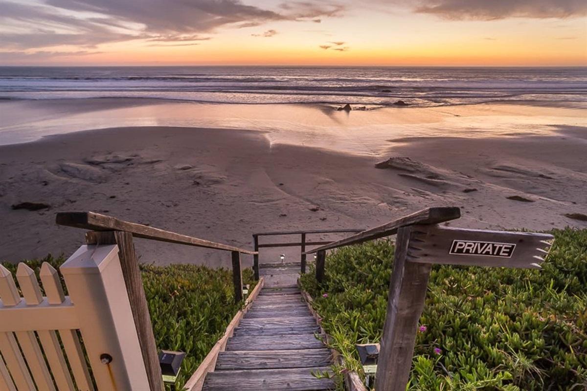 Staircase to beach