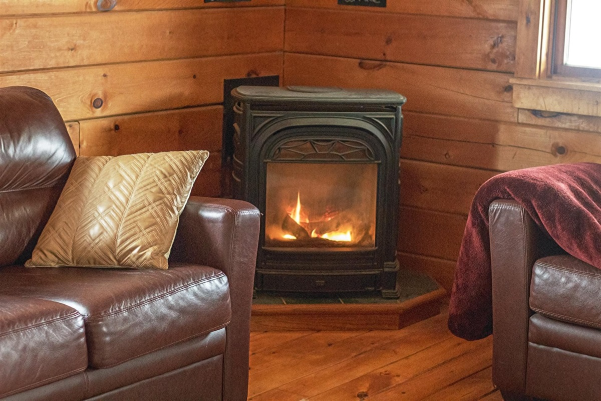 fireplaces at each cabin
