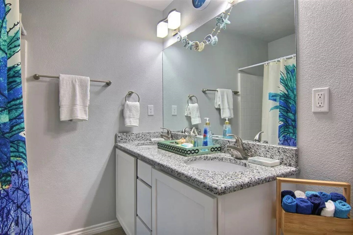 Master Bathroom - Dual sinks, shower & Tub Combo.