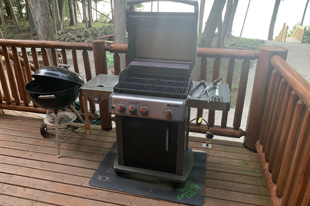 Brand new propane grill & charcoal grill!
