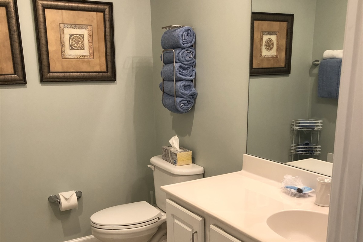 Lockout bathroom with tub/shower combination