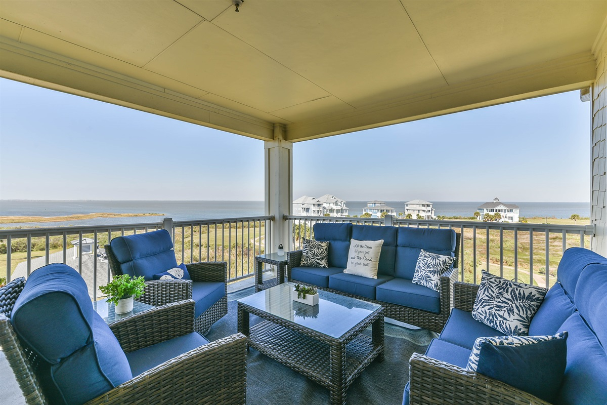 Outdoor Seating With Bay Views