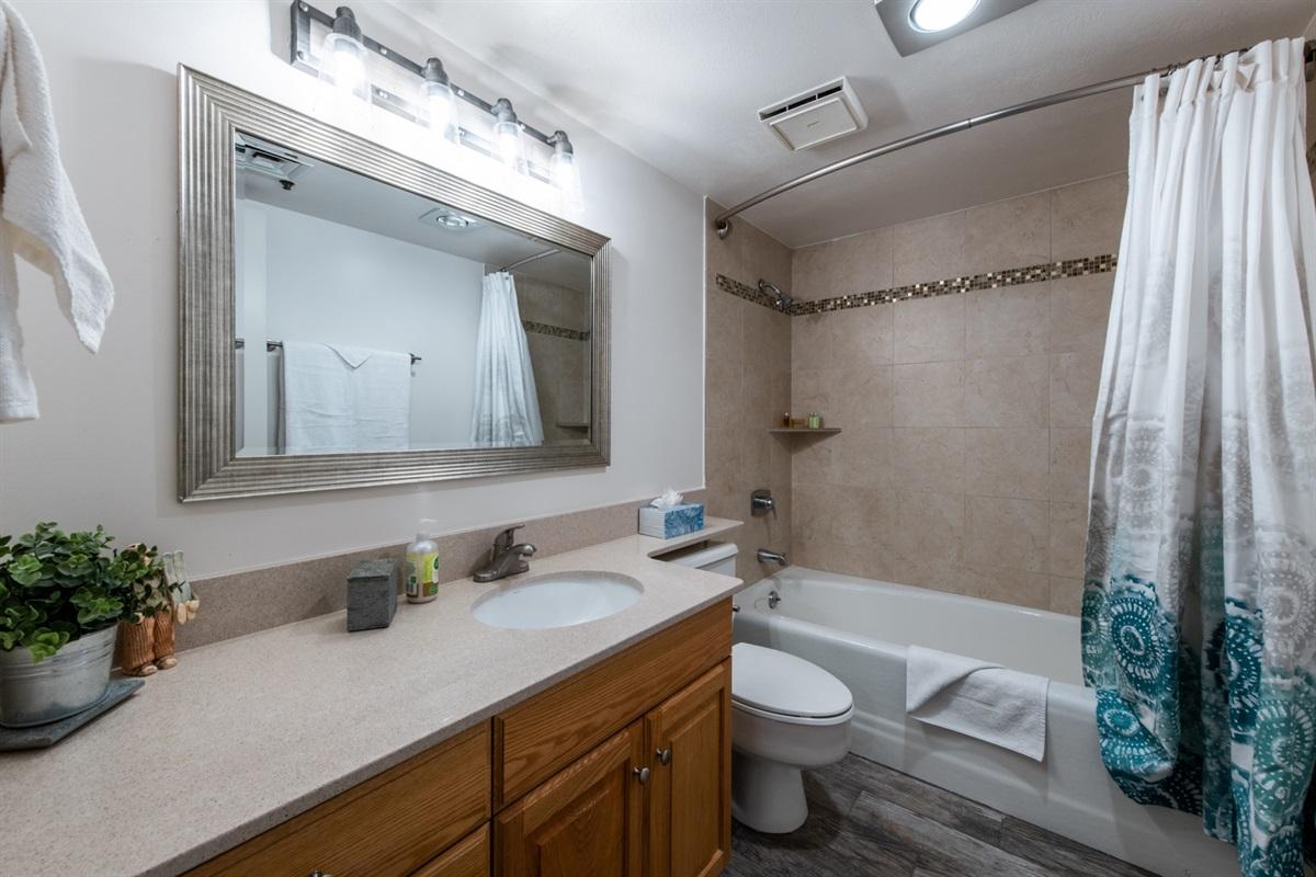 Second Bathroom.  Full Bath with shower.