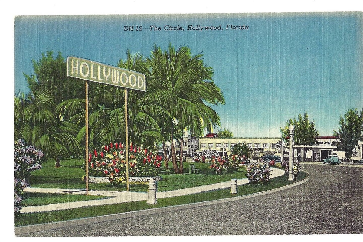 Vintage postcards like this one are featured throughout the cottage.