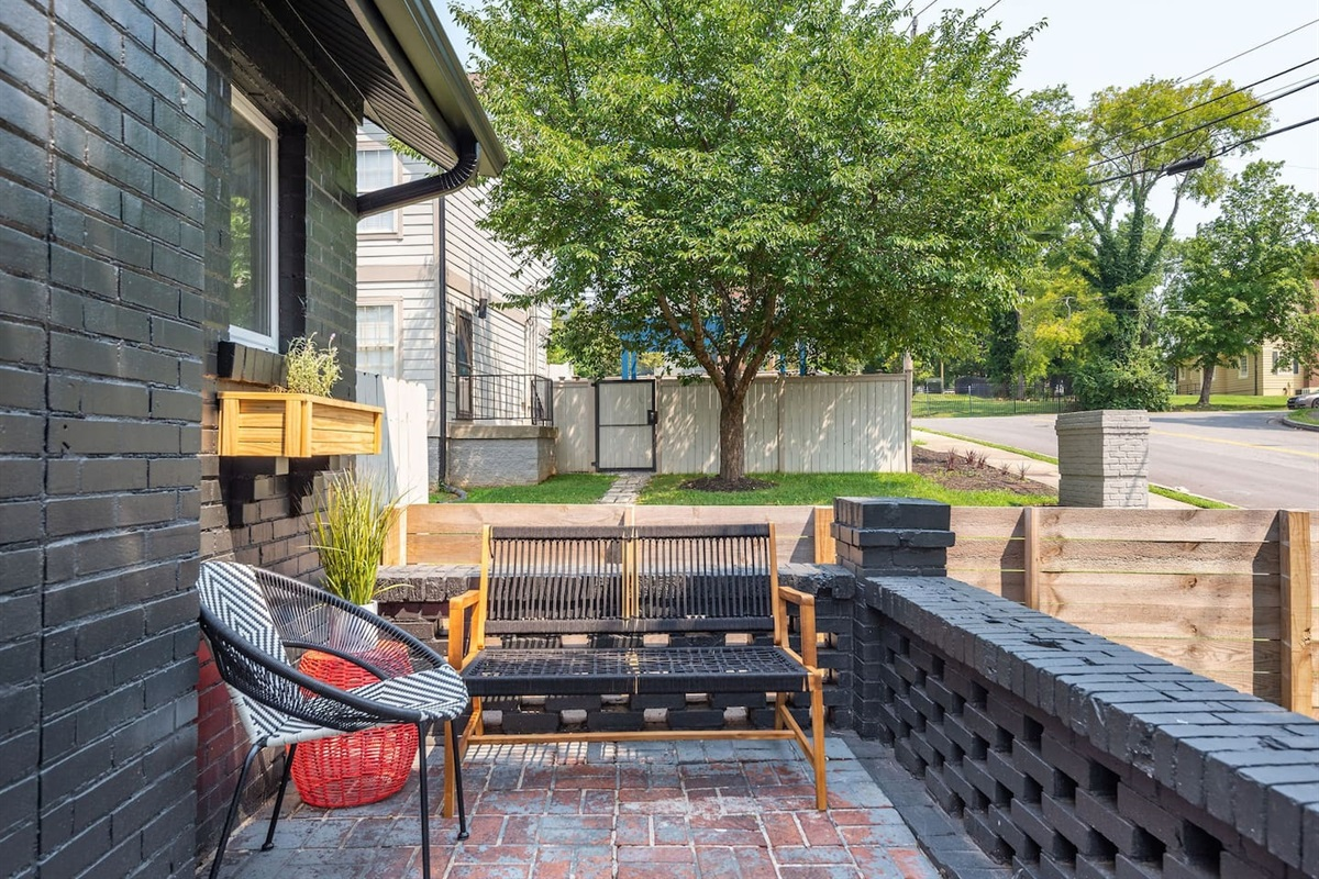 The front patio is another great place to relax during your stay