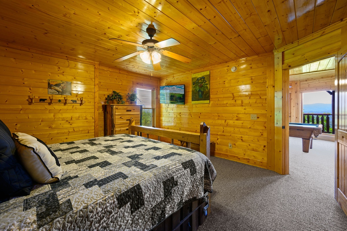 Lower level king master suite