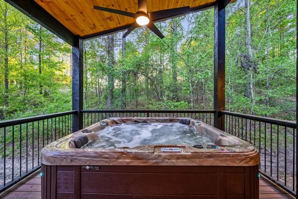Hot tub on deck 2