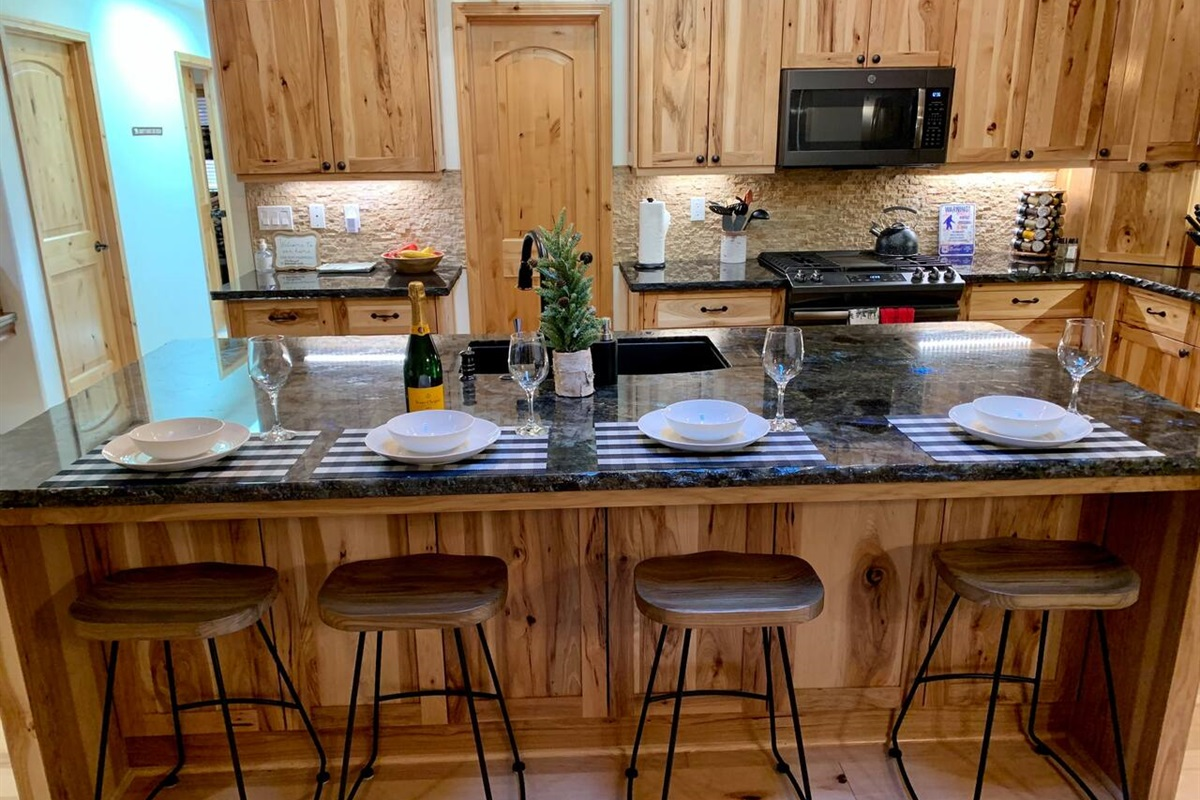 Kitchen bar seating for 4