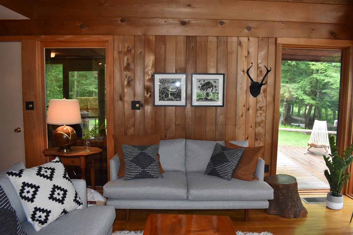 Great Room Couches With Access To Deck And Screened-in Porch