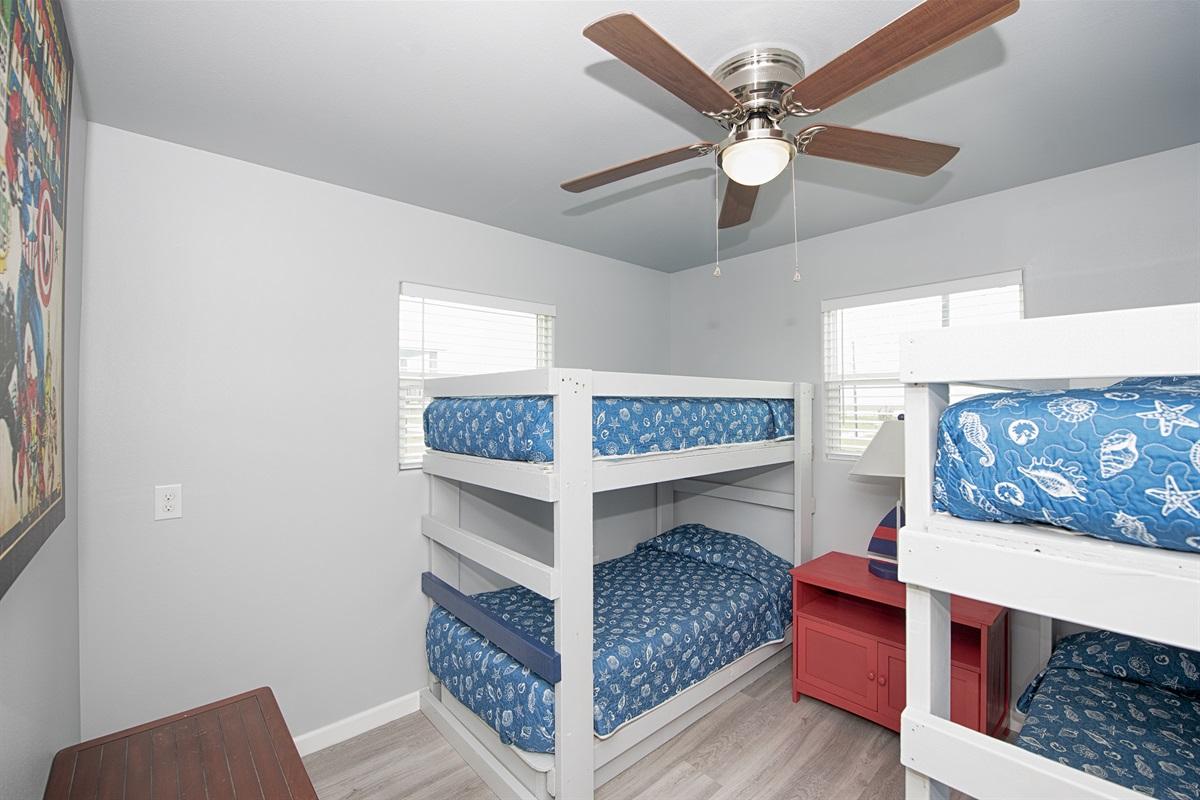 4 twin bunks