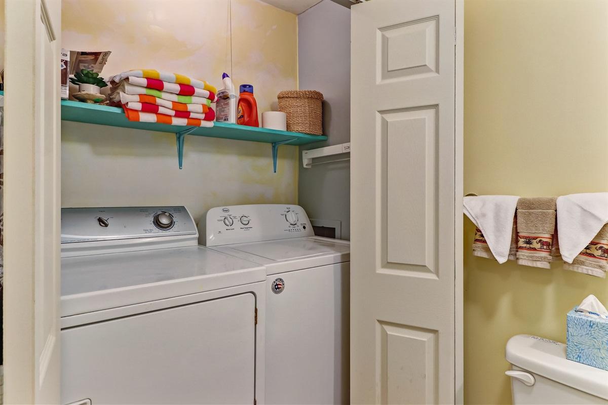 Full Laundry in Half Bath