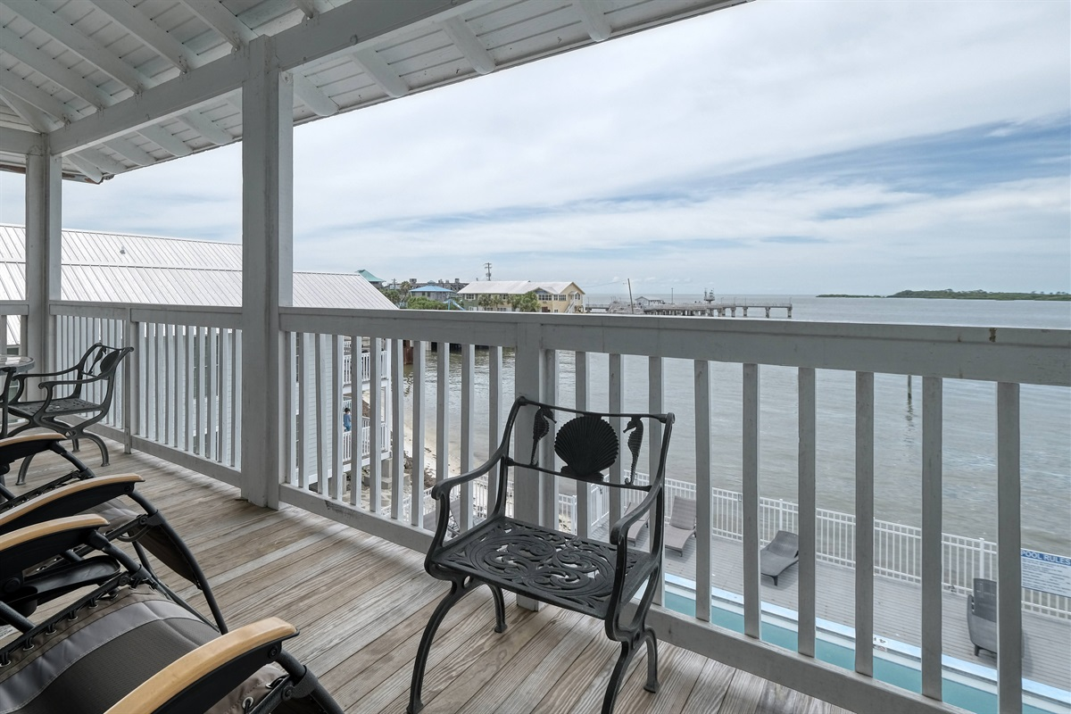 Great views of the gulf from the porch