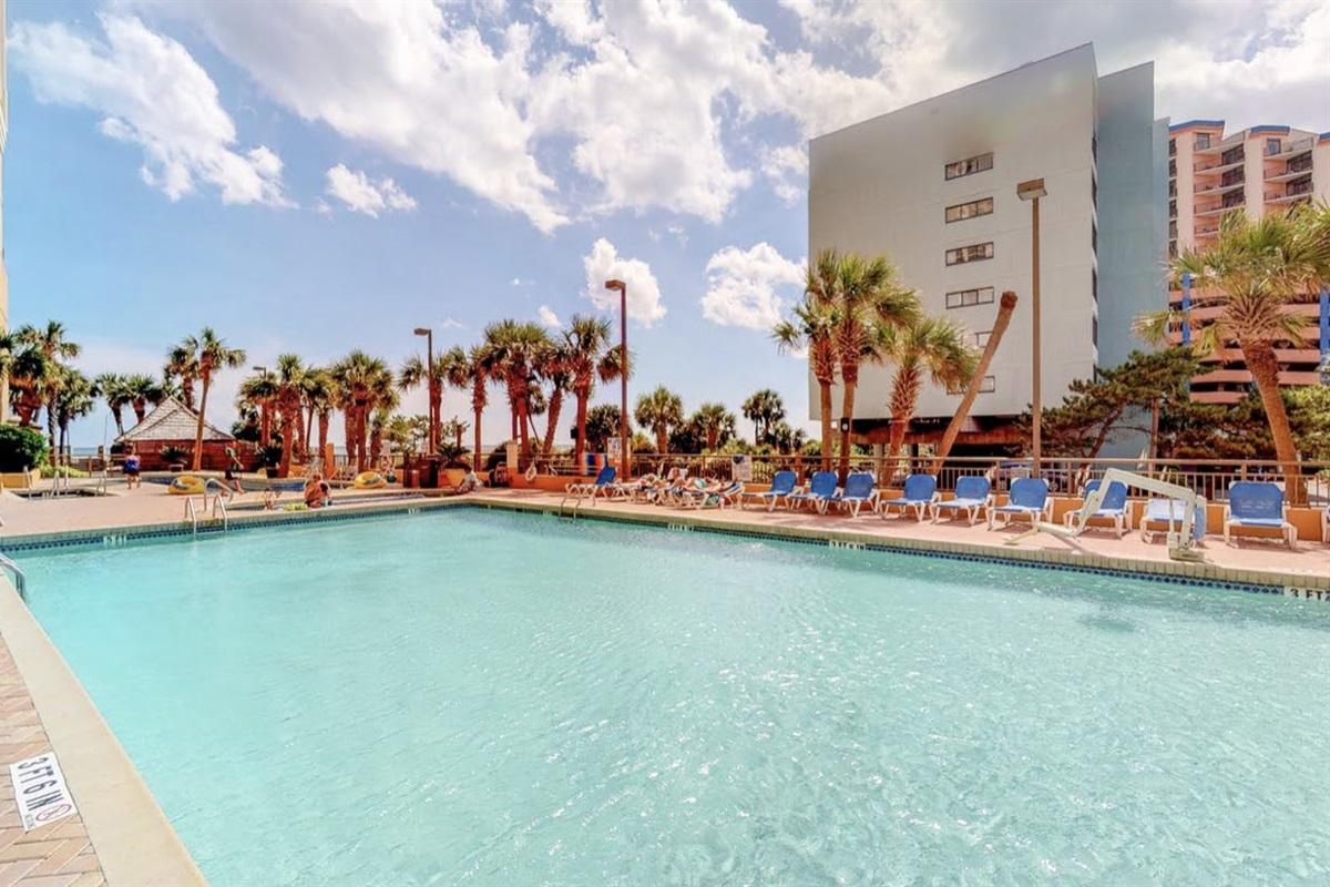 Pool Deck of Resort Building Next Door