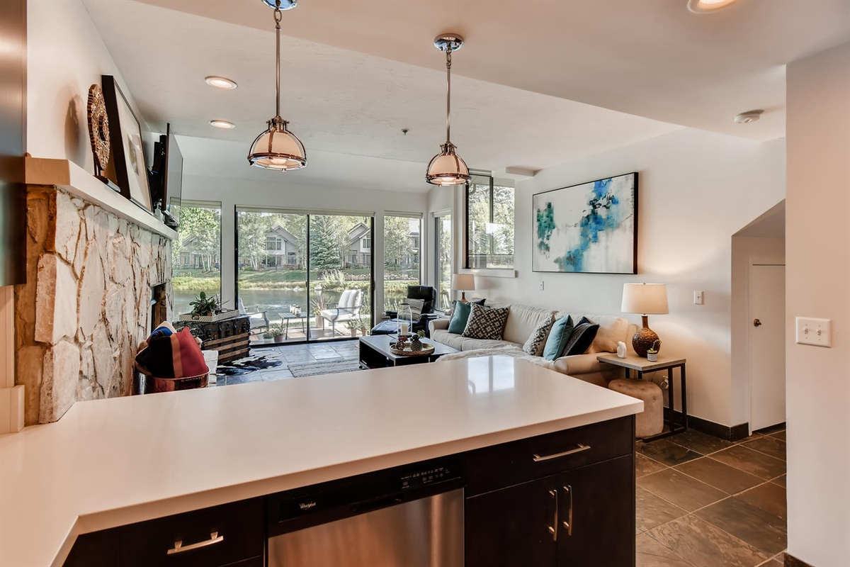 Open plan living, large space for everyone to enjoy.