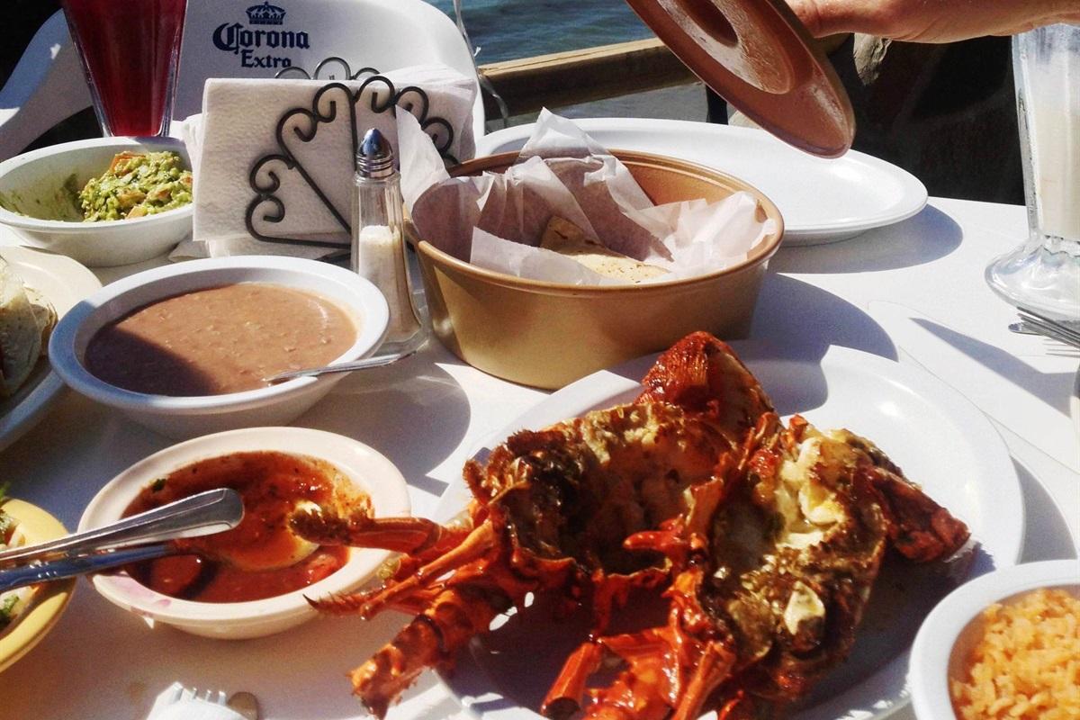 Eat lobster oceanfront in Puerto Nuevo