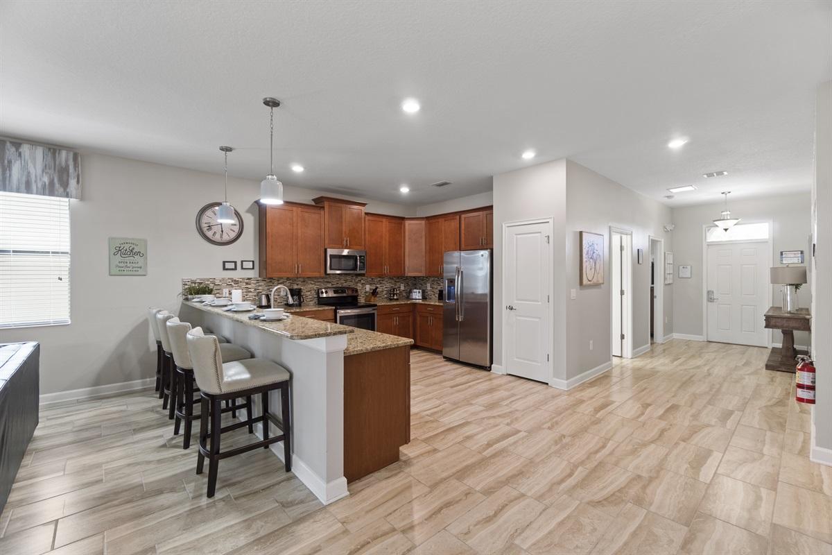 Bright Entry Way & Open Kitchen