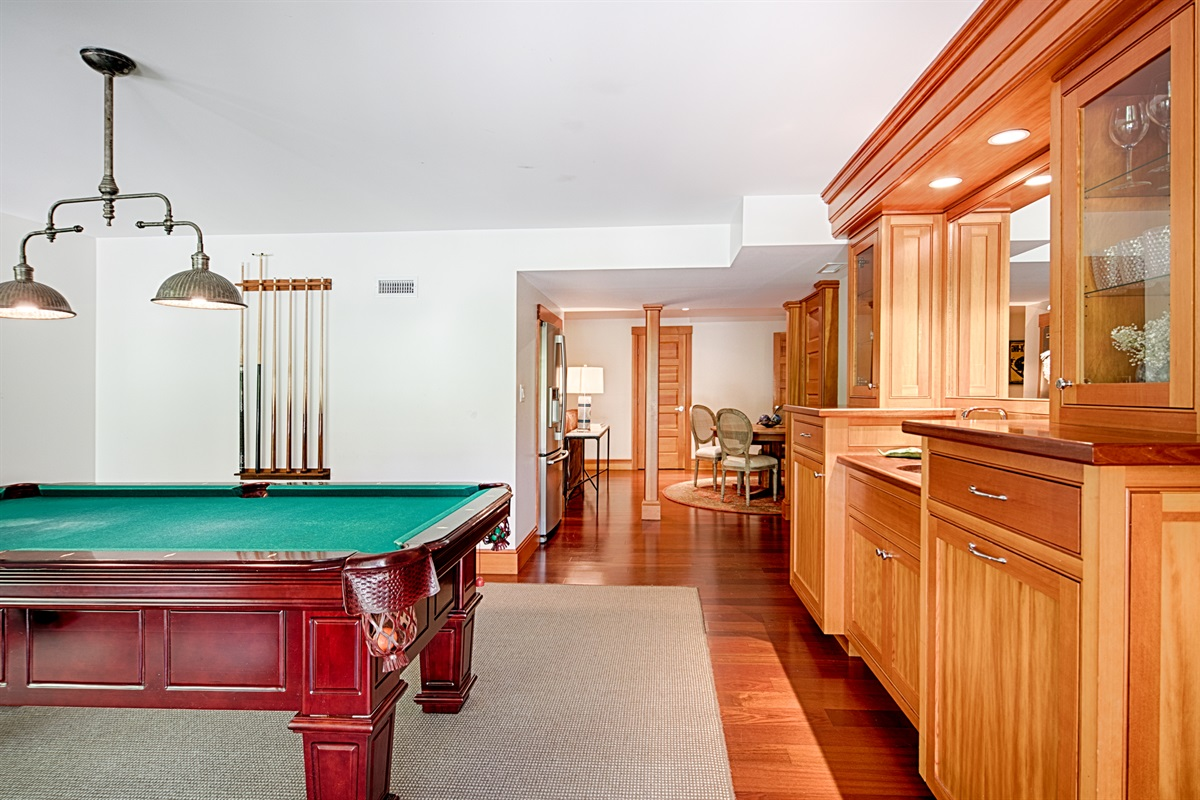 Pool Table and rec room