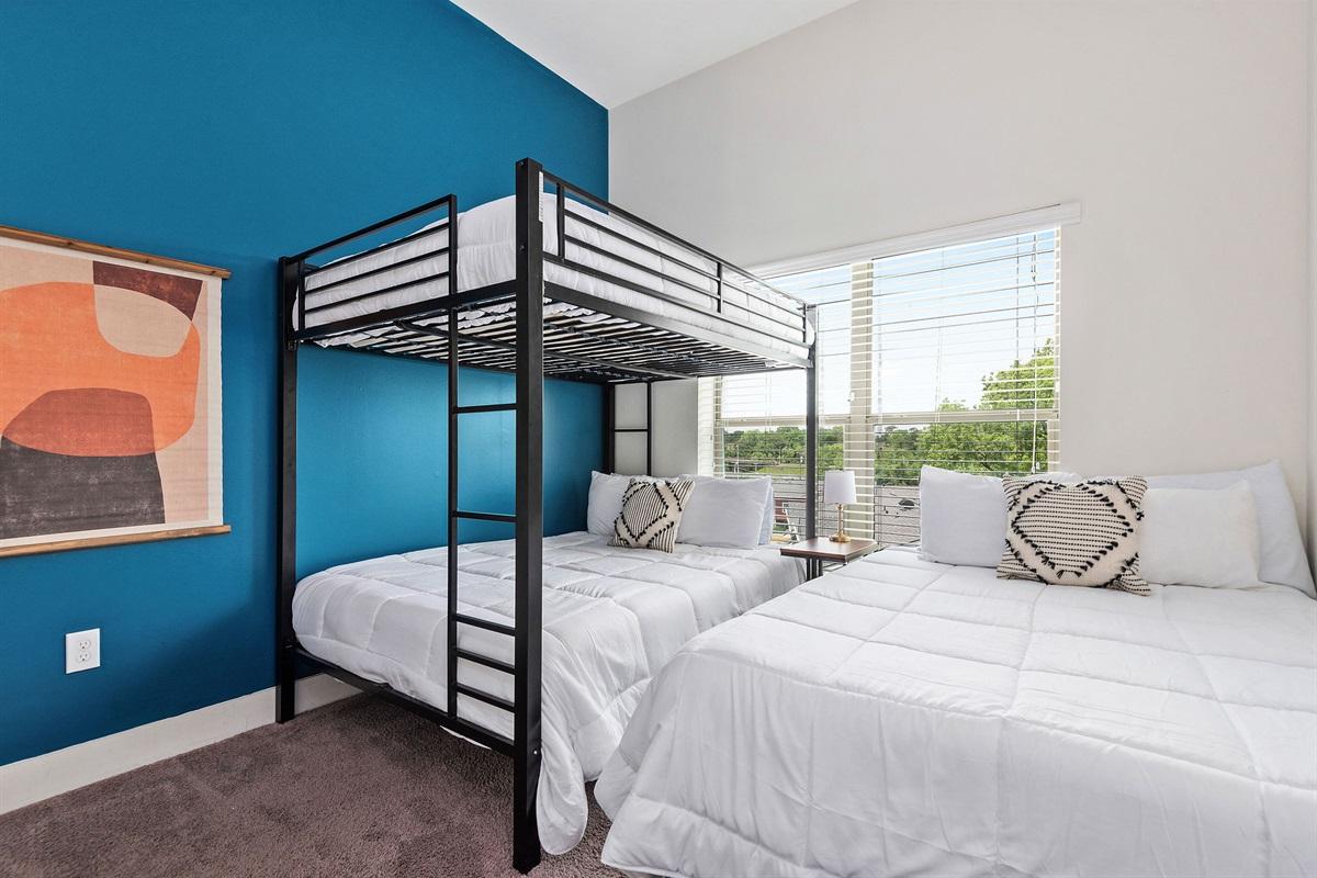 3 Memory foam beds in bedroom #1