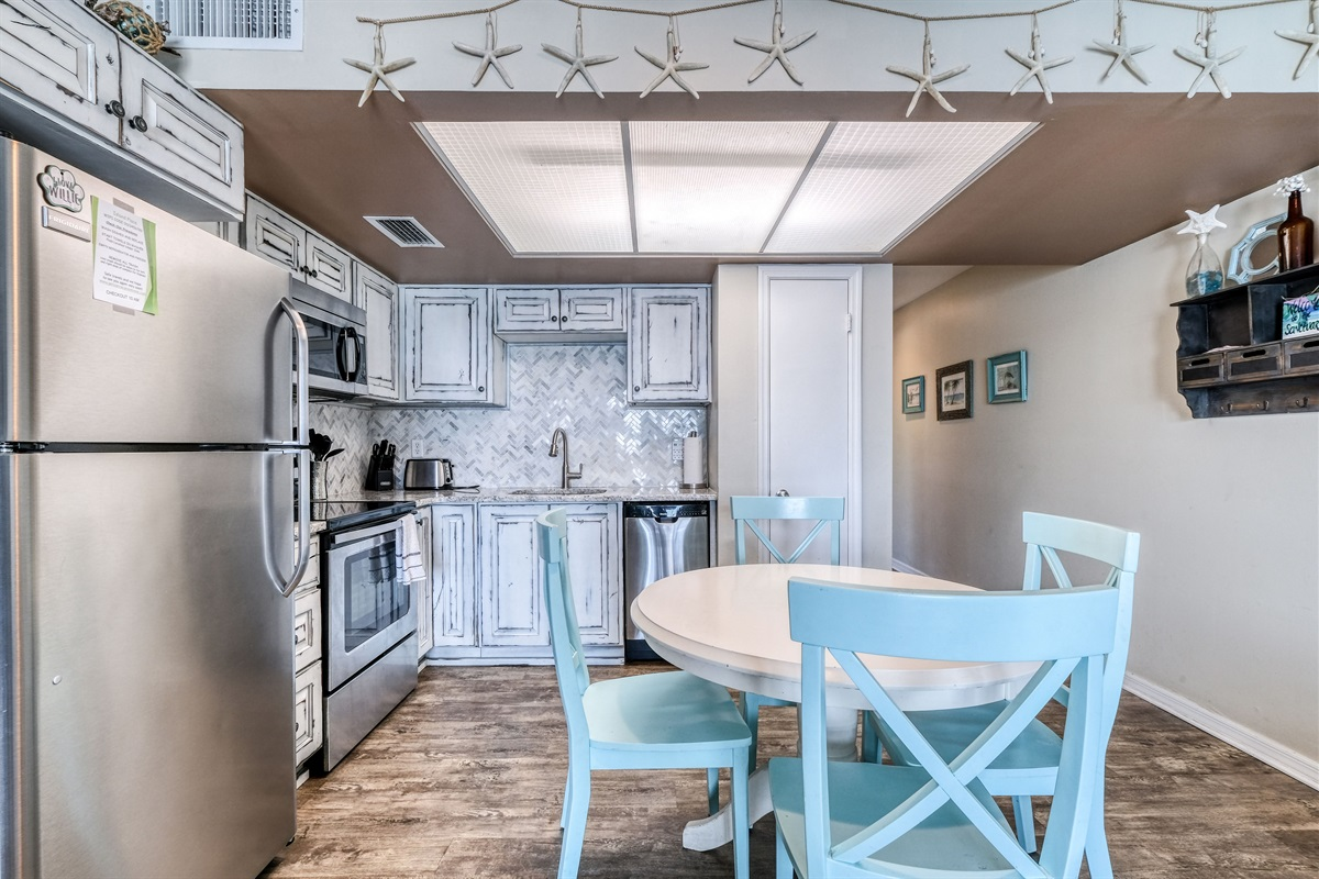 Dining seating in kitchen