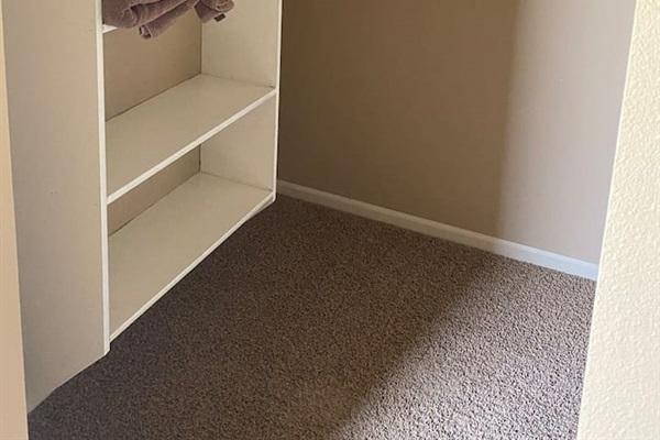 Master bedroom walk in closet.