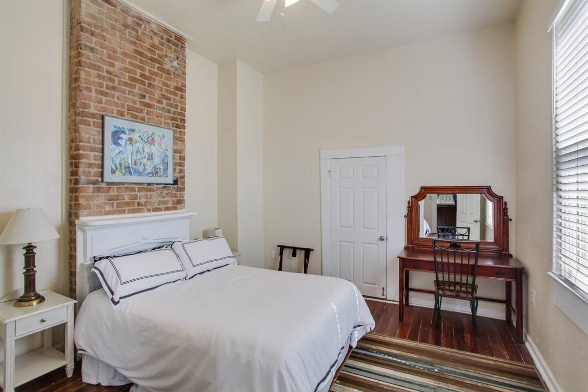 Bedroom 4. Upstairs. 1 queen bed. Central HVAC. Memory foam mattress.