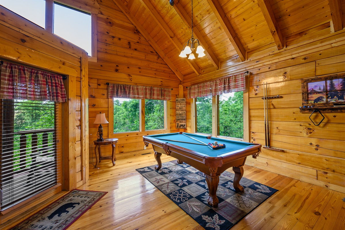 Enjoy some friendly pool competition with a great view!